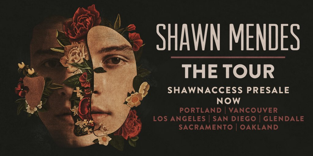 ShawnAccess presale for #ShawnMendesTheTour is now for Pacific time cities!https://t.co/kydnQesN8d https://t.co/3CRhi68qUW