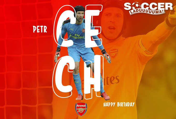 Arsenal\s Petr ech is celebrating his special day today. Join us as we wish the shot-stopper a Happy 36th Birthday!