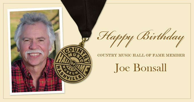Help us wish Country Music Hall of Fame member Joe Bonsall, of The a happy birthday today!