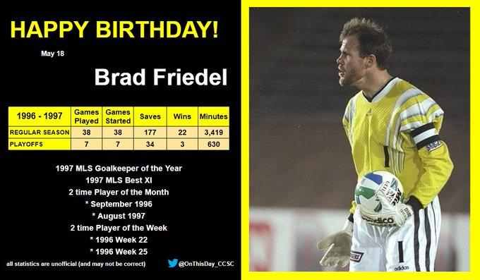5-18 Happy Birthday, Brad Friedel!