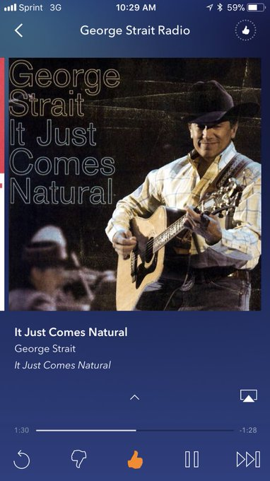 Nothing better to listen to on this amazing day! Happy birthday George Strait