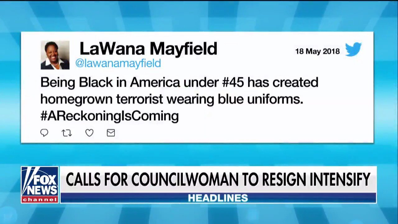 Calls intensifying for a Charlotte councilwoman to resign after comparing cops to terrorists https://t.co/tRCvqsuu8p