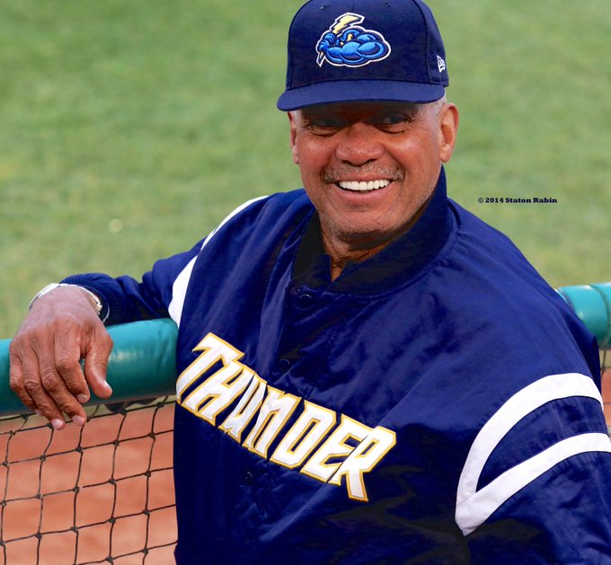 Happy Birthday to Reggie Jackson seen here in the Trenton Thunder dugout in 2014.