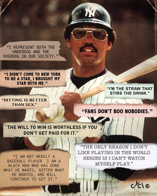 Nobody in baseball talked that talk like Reggie Jackson.  Happy birthday to the one and only.