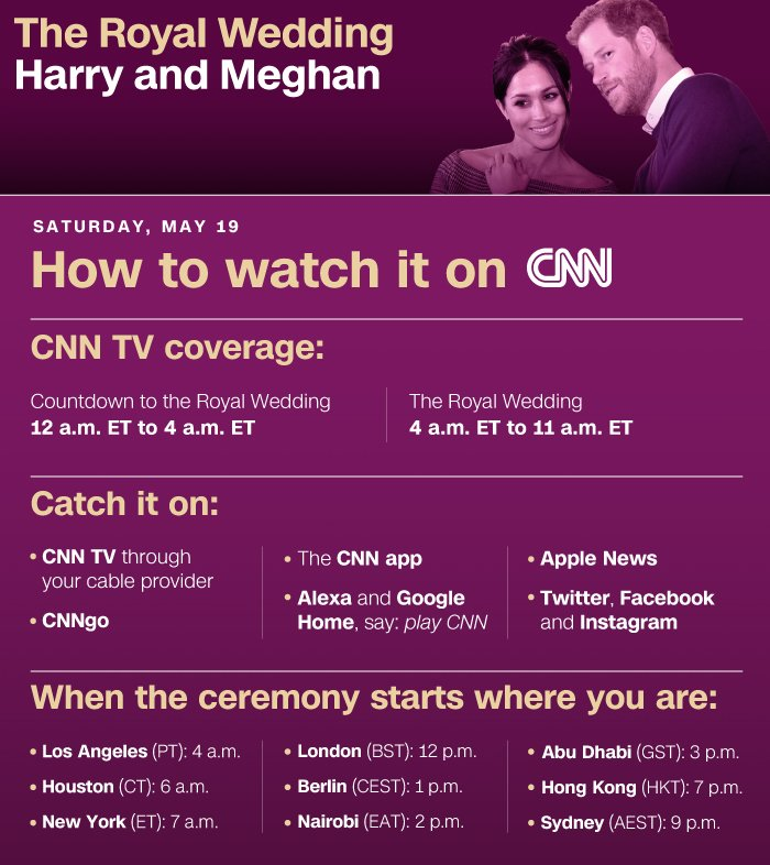 No #royalwedding invitation? Not to worry. Here's how to watch it live in the US https://t.co/HCHtXYVGLF https://t.co/0RClUHqVY9