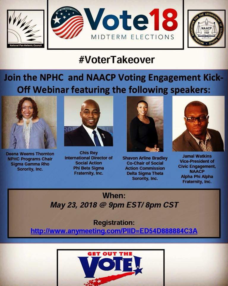 test Twitter Media - NPHC and NAACP are coming together during the midterm elections. This call is going to be fire. Sign up and let our voices be heard. #VoterTakeOver https://t.co/yAuVZAqQkt