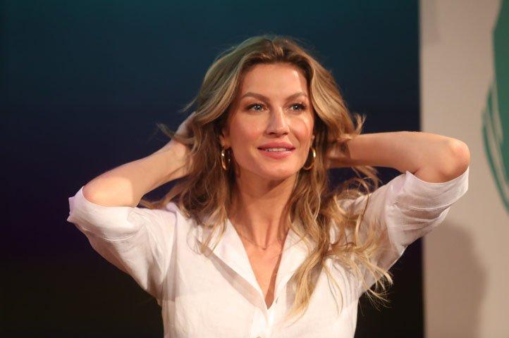 @BroadcastImagem: Em São Paulo, Gisele Bündchen participa do lançamento de livro de ambientalista americano. Alex Silva/Estadão