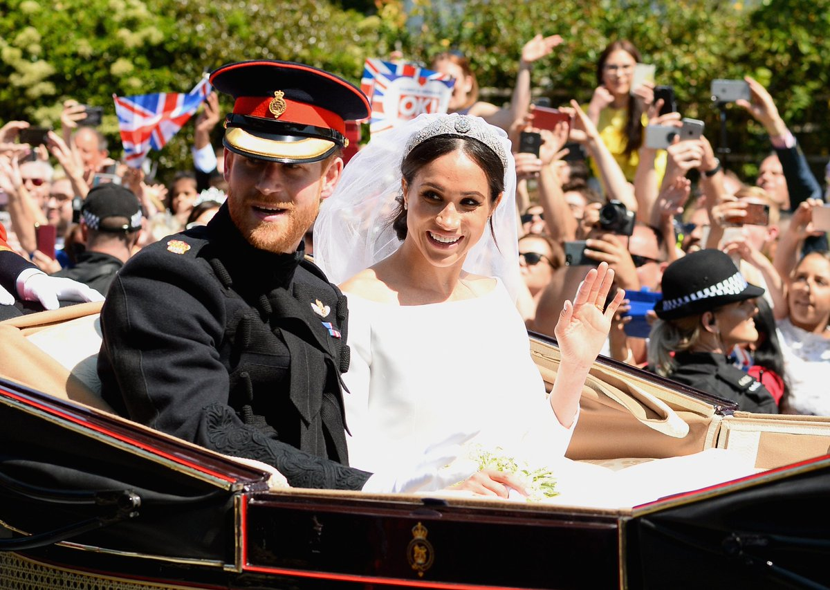 See Every Magical Photo from Harry and Meghan's Carriage Ride Through Windsor