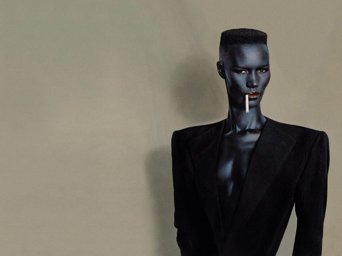 Ladies and gentlemen Miss Grace Jones.... Happy birthday