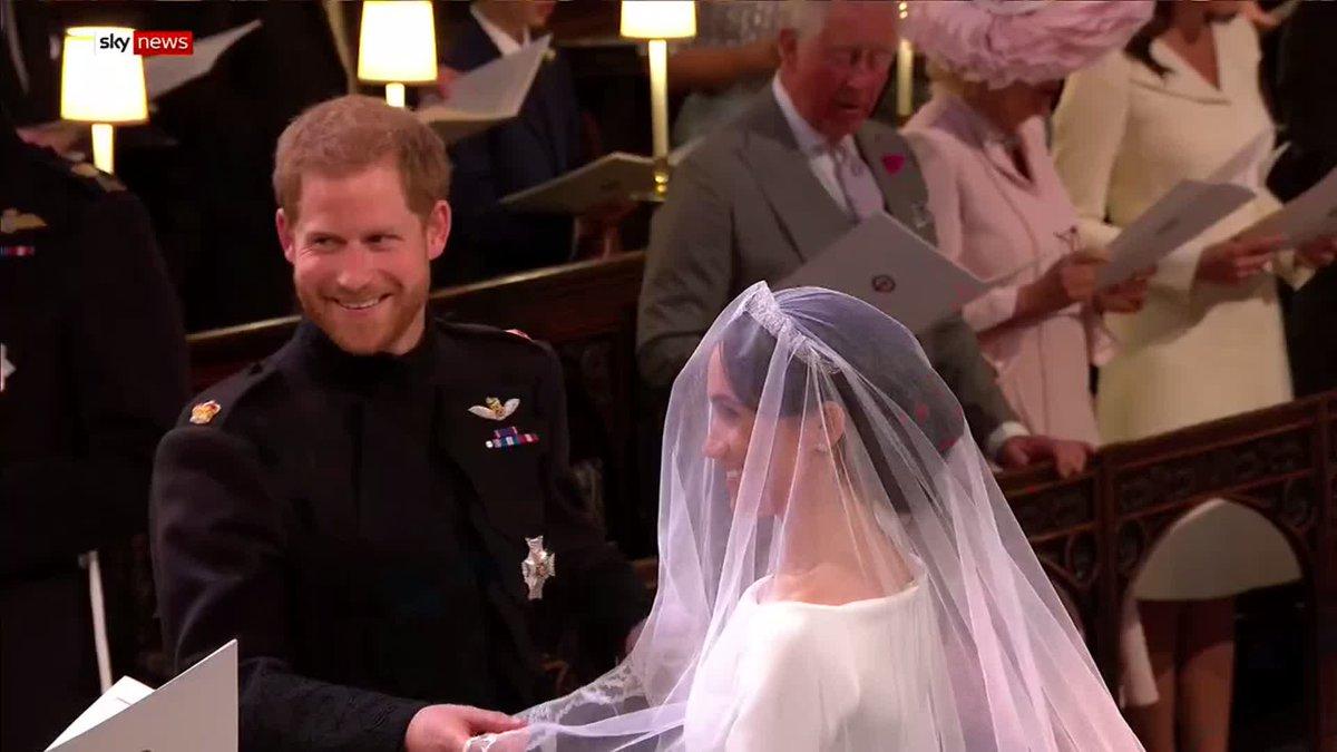 Off goes the veil royalwedding harryandmeghan