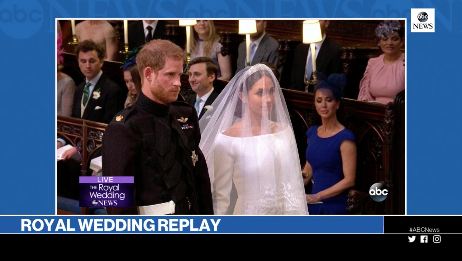 We're replaying the entire #RoyalWedding right now online!   WATCH HERE: https://t.co/xButFim2ca https://t.co/Q6K3fI2R1e