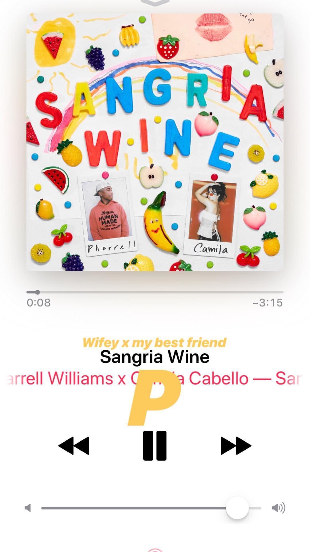 "Ariana praises Camila and Pharrell's Sangria Wine via her Instagram story �� ""wifey x my best friend"" https://t.co/d8EbaDr6vI"