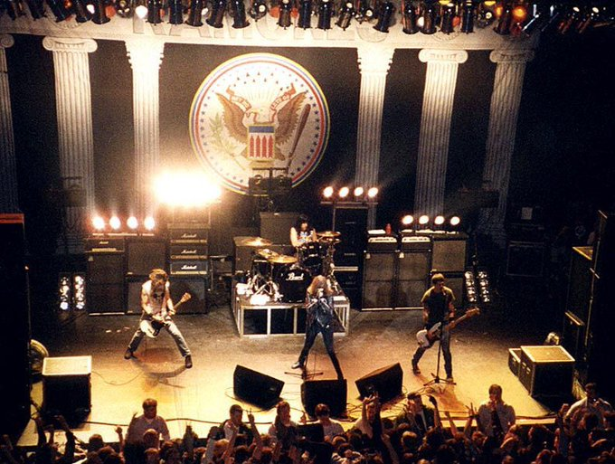 Happy Birthday, Joey Ramone!! Here s a fan shot photo of Ramones at The Cap on 4/8/95. Who was there?