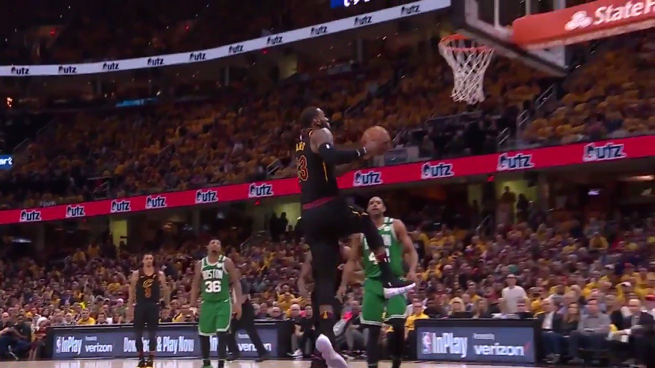 LeBron James fuels the @cavs Game 3 win at home with 27 PTS, 12 AST, 5 REB! #WhateverItTakes #NBAPlayoffs https://t.co/eWGsdQNLLl