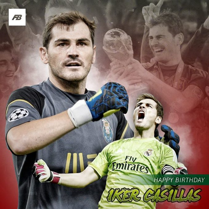 Happy birthday to one of the greatest goalkeepers of all time - Iker Casillas!