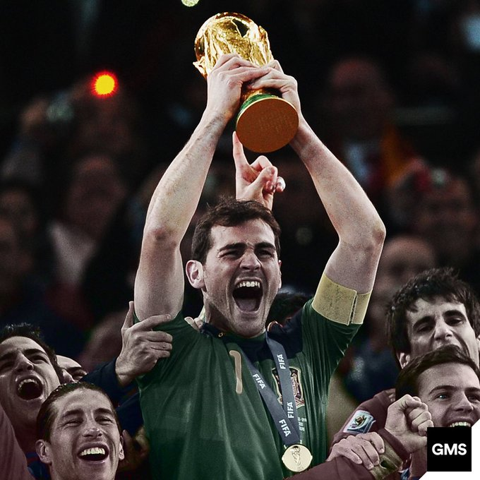 5 La Ligas, 3 Champions Leagues, 1 World Cup, 2 European Championships.  Happy Birthday Iker Casillas!