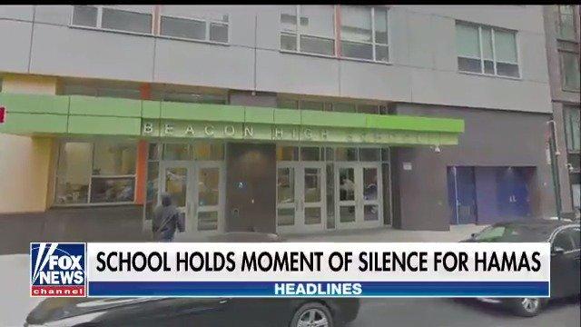 New York City high school holds moment of silence for Hamas. https://t.co/6qAg4obeHb