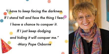 Happy birthday Mary Pope Osborne!