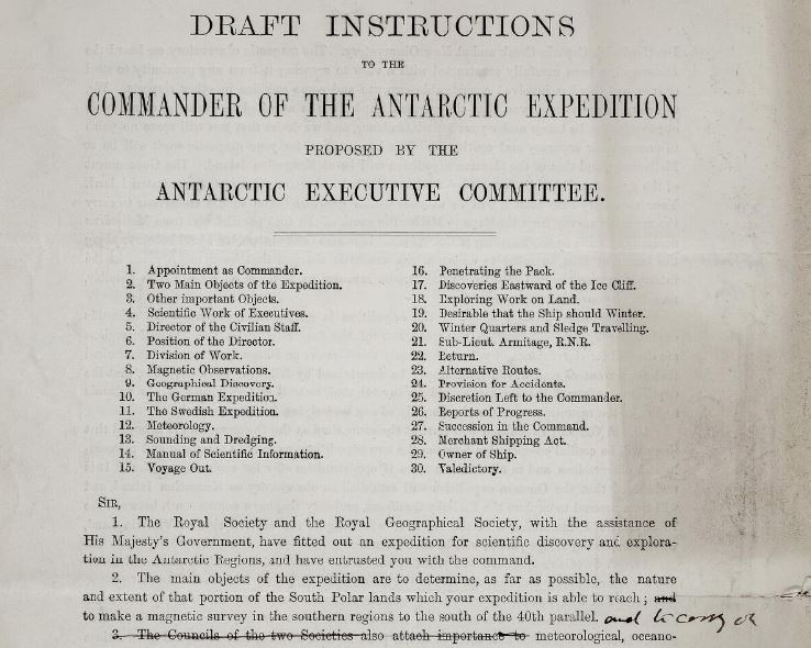 test Twitter Media - View and transcribe the orders given to Captain Scott for the British National Antarctic Expedition on our new free resource #ScienceintheMaking #histci https://t.co/fmFJjQW7Wv https://t.co/fPQxsPfKPH