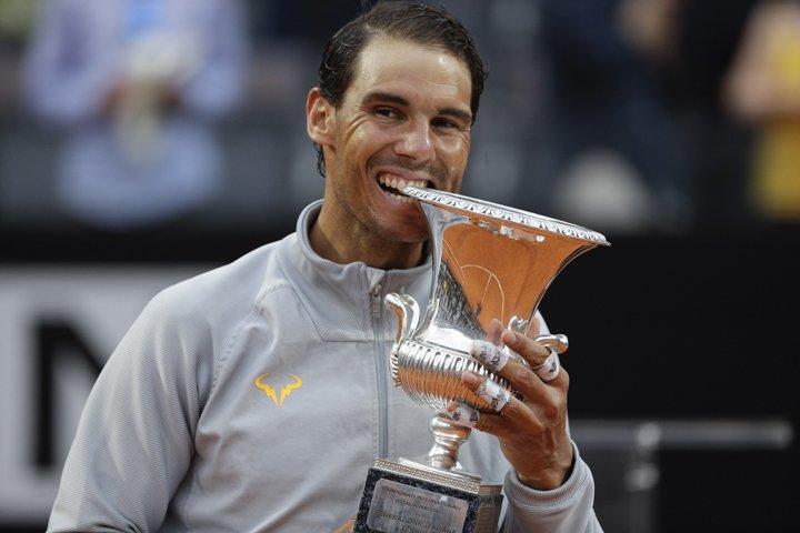 @BroadcastImagem: Nadal bate Zverev, leva oitavo título em Roma e voltará a liderar ranking. Gregorio Borgia/AP