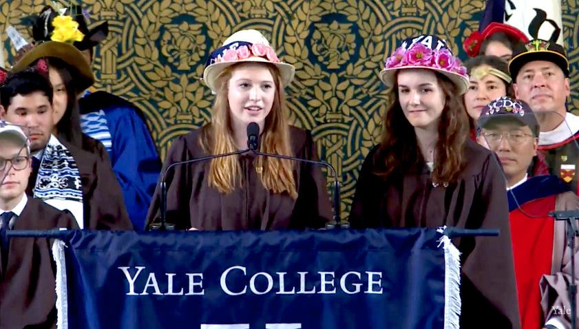 Sarah Armstrong and Julia Feldstein present the Class Day Traditions #Yale2018 https://t.co/cxhOzpqvcN