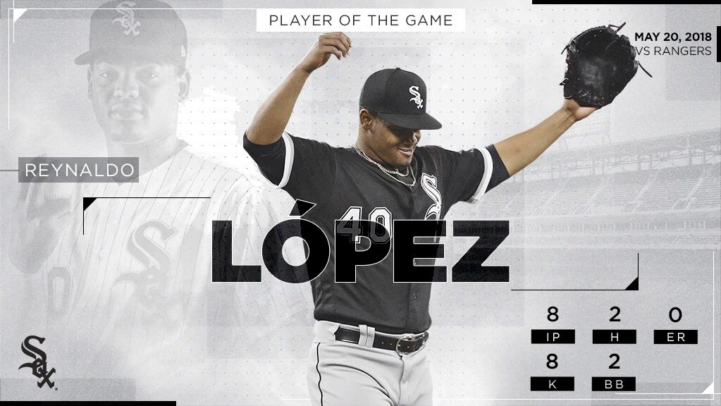 Career high in IP (8.0) and pitches (107) for Reynaldo López! #SoxStats �� https://t.co/hV6991Eddl