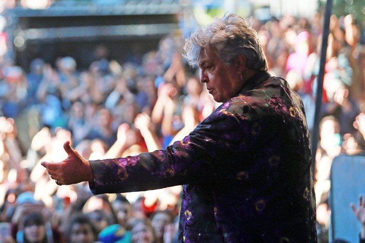 @BroadcastImagem: O cantor Sidney Magal se apresenta na Virada Cultural em SP. Tiago Queiroz/Estadão