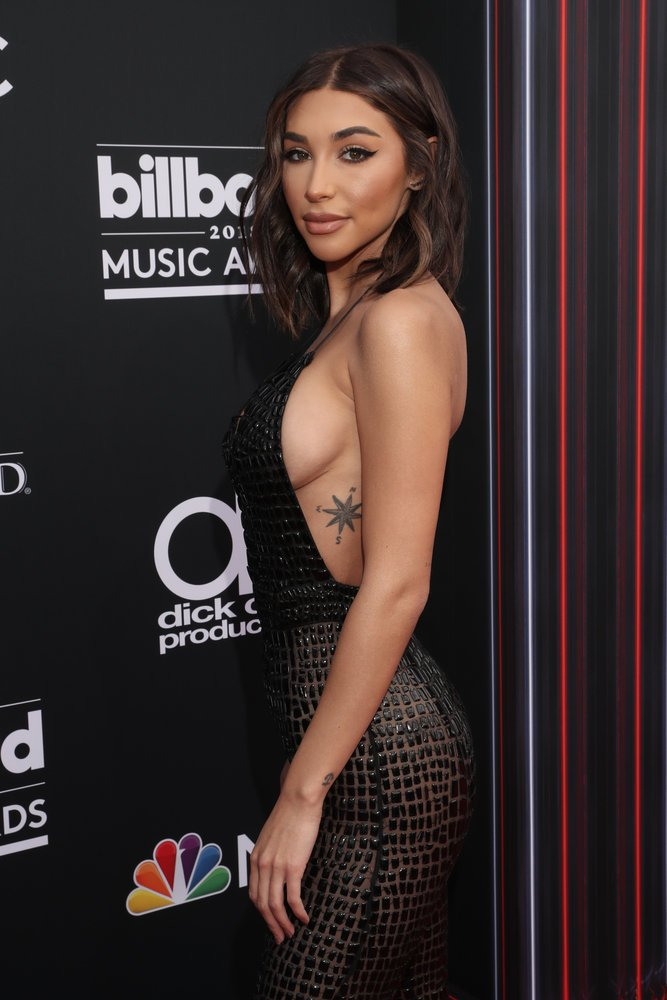 Chantel Jeffries walking the 2018 Billboard Music Awards red carpet (press pic by Todd Williamson/NBC) https://t.co/H7FVe2WyFz