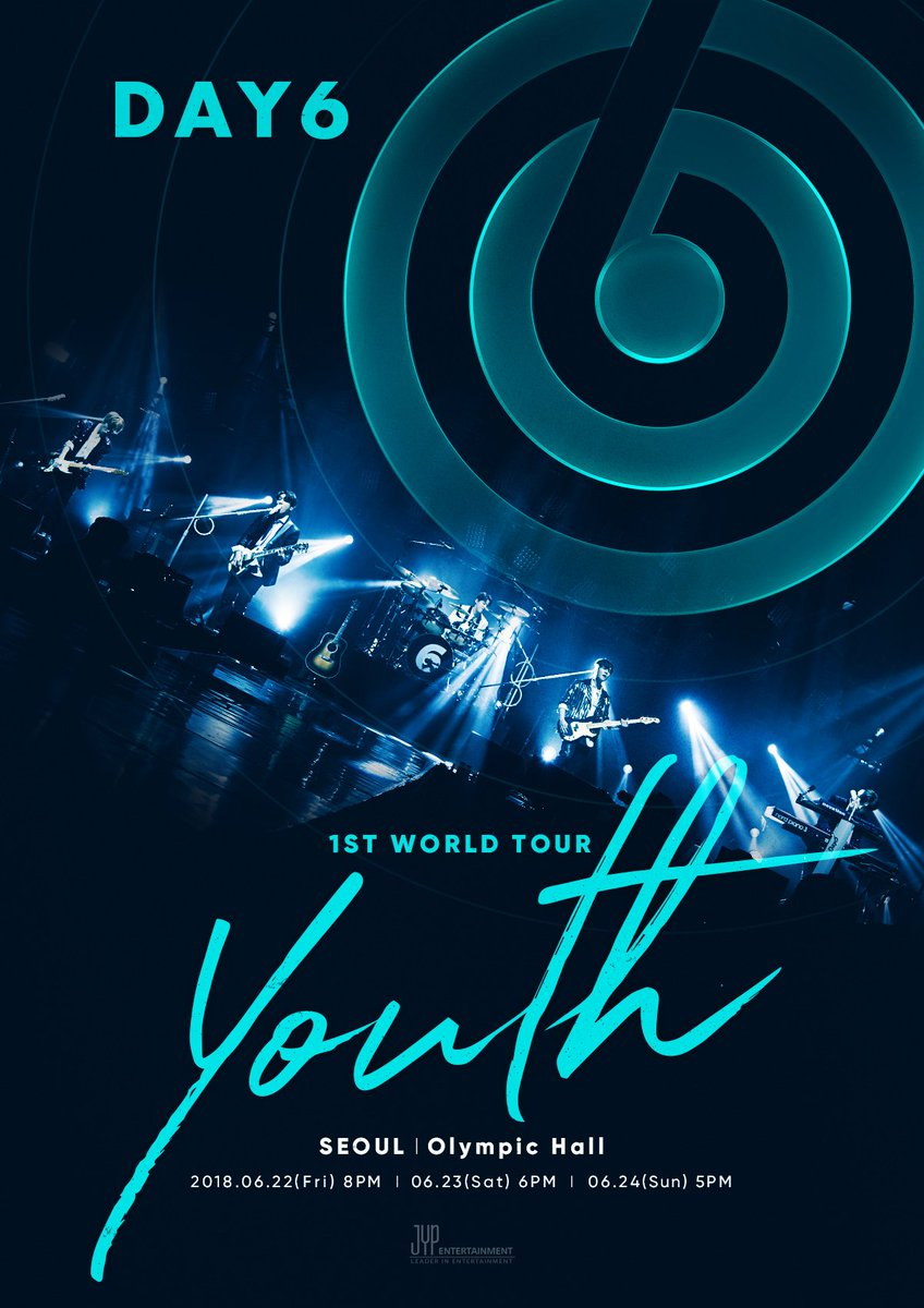 RT @day6official: DAY6 1ST WORLD TOUR 'Youth' 서울공연 개최  #DAY6 #데이식스 #Youth https://t.co/dIBAe8afk0