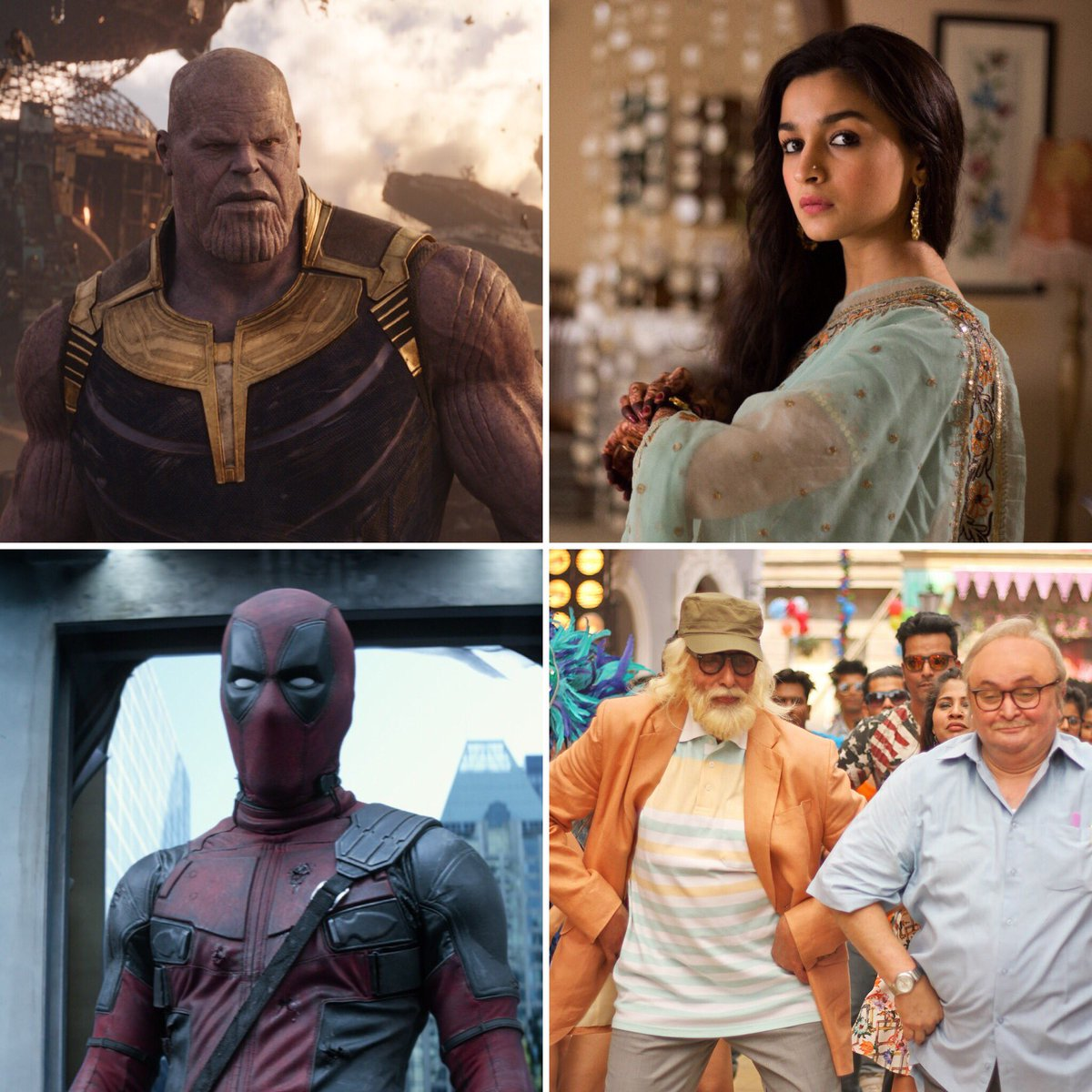 test Twitter Media - #Avengers, #102NotOut, #Raazi, #Deadpool2... The winning streak continues... More to come this year... Picture abhi baaki hain... My analysis for Bollywood Hungama: https://t.co/um40SwS4I5 https://t.co/lNnQWr4OeU