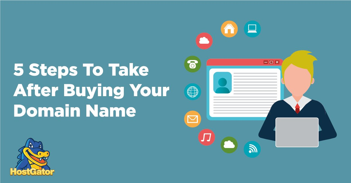 5 Steps To Take After Buying Your New Domain Name https://t.co/178SHpIarT #wordpress #bestblog #blogengine https://t.co/LpNlqdoVyN