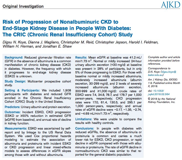 test Twitter Media - Risk of Progression of Nonalbuminuric #CKD to #ESKD in People With #Diabetes: The @CRICStudy https://t.co/Pmyy5bY0Zl @DiannaMagliano @BakerResearchAu @UPennDBEI https://t.co/beAbWuyhRc