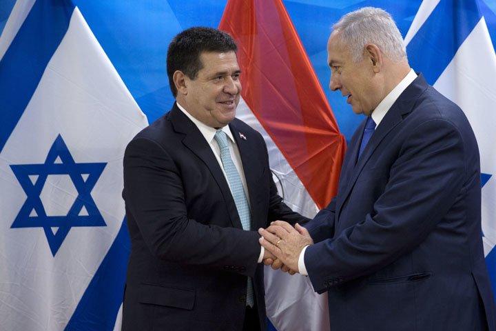 @BroadcastImagem: Horacio Cartes, presidente do Paraguai, inaugura embaixada do país em Jerusalém. Sebastian Scheiner/AP