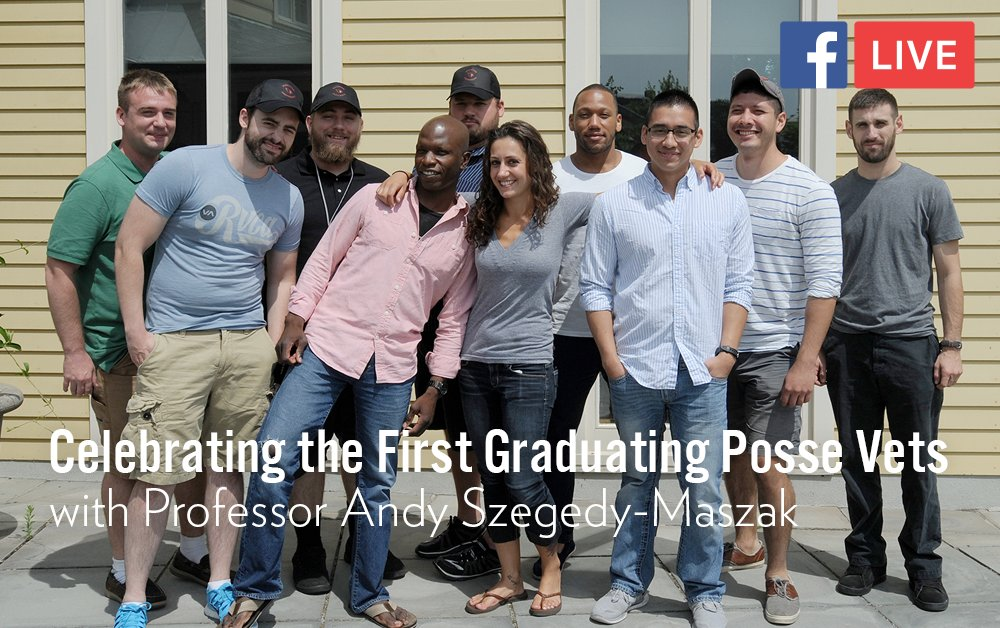 test Twitter Media - Join us on Facebook at 2pm today for a live discussion with two of the first graduating class of @possefoundation veteran-students, along with their faculty mentor, Professor Andy Szegedy-Maszak: https://t.co/tRccWDGcKW https://t.co/ab3SV2K1Vu