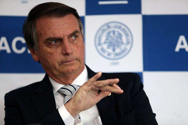 @BroadcastImagem: O pré-candidato à Presidência da República, Jair Bolsonaro (PSL), em palestra na ACRJ. Wilton Júnior/Estadão