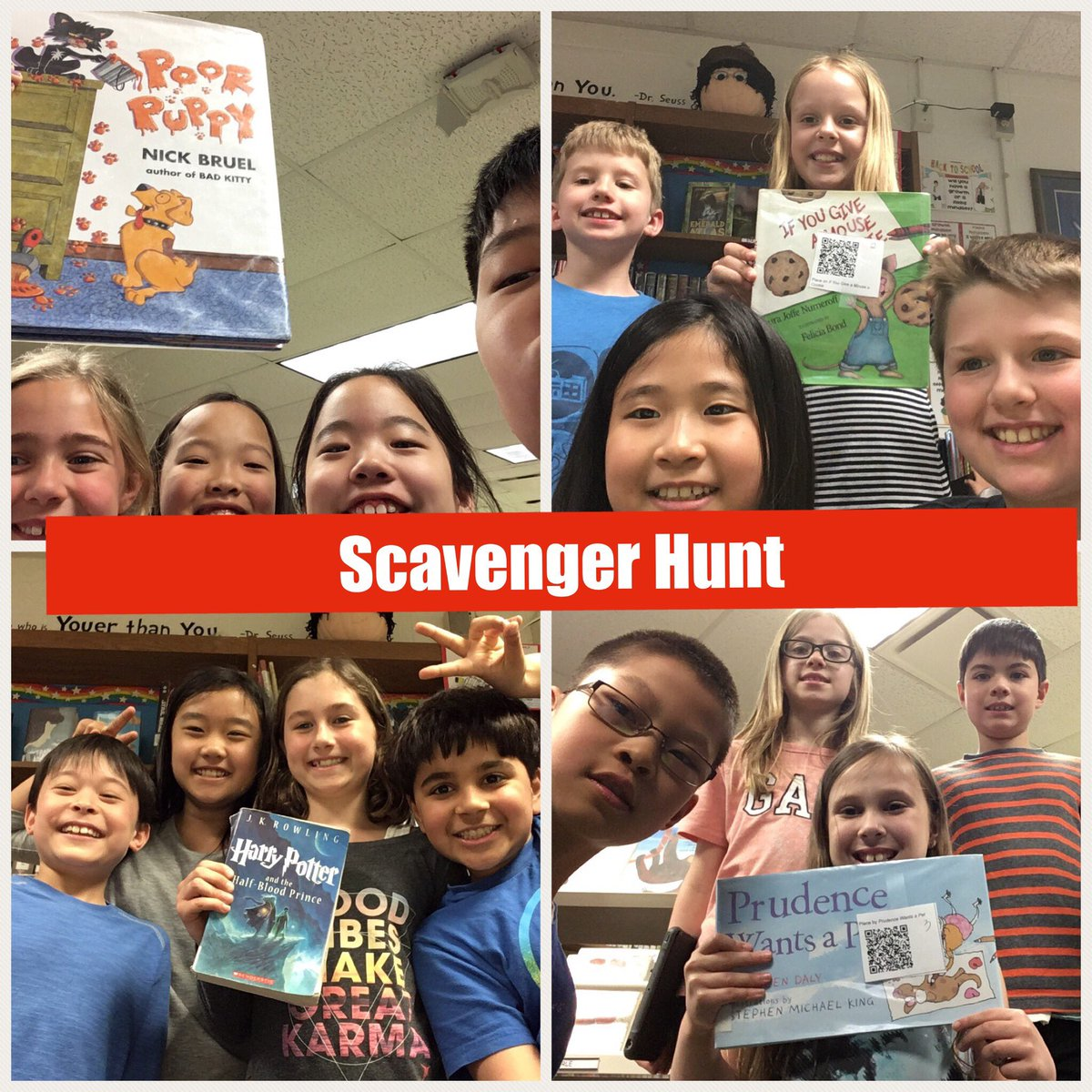 test Twitter Media - Students in @jlosoff did a great job practicing their library skills with a QR code scavenger hunt for books!  #d30learns https://t.co/o2j8njWGXB
