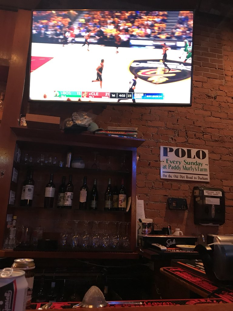 Surprised and stoked I got a bar seat for this #celtics #Cavs game 4 - go Celts!