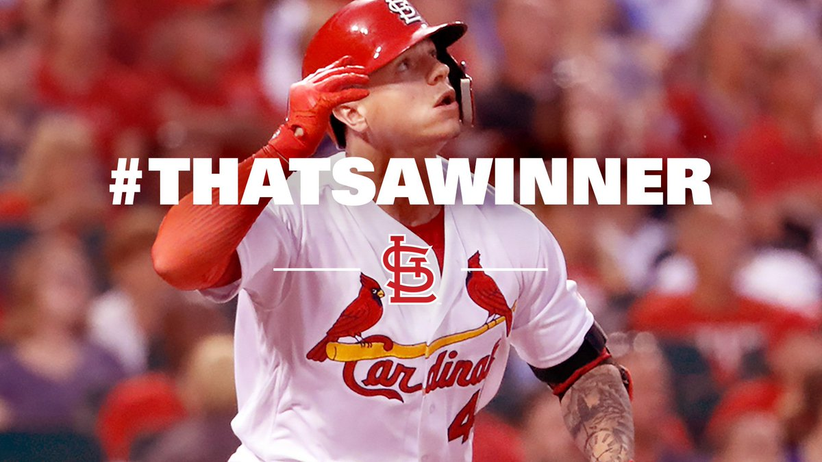 RT @Cardinals: #THATSAWINNER!!! 👏👏👏 https://t.co/zj2GEdCu97