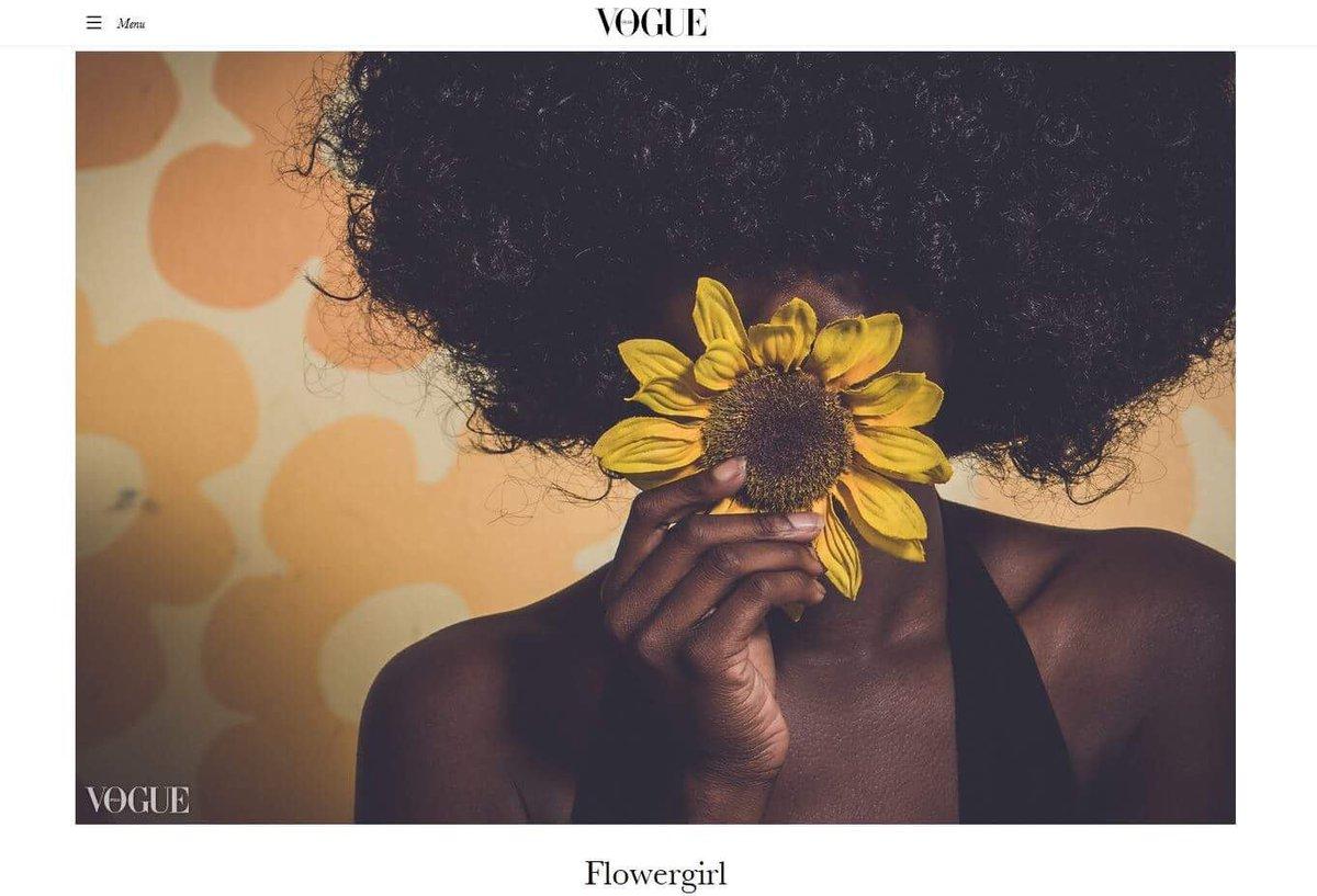 RT @Thechick209: VOGUE  . . Flowergirl . . #MelaninMonday #vogue https://t.co/34sq8w1lZ0
