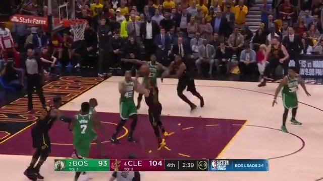George Hill drives in for the floater!  @cavs on top 106-95 with 2:01 remaining.  WATCH on @ESPNNBA https://t.co/mFL6cq1qQd