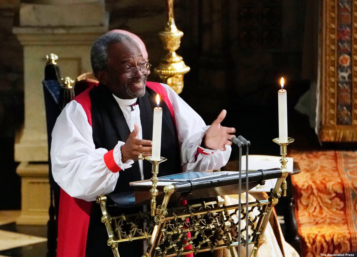 Rev. Michael Curry says he thought his RoyalWedding invitation was a prank.