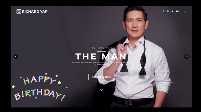 Happy Birthday sir Richard Yap..
