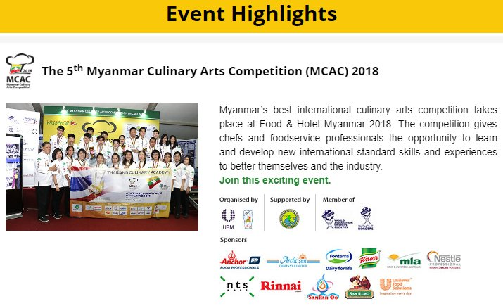 test Twitter Media - Myanmar's best international culinary arts competition is taking place at Food & Hotel Myanmar 2018 right now!  #Chefs #Competition #Food #Myanmar #Export https://t.co/wzDFVMsvTm