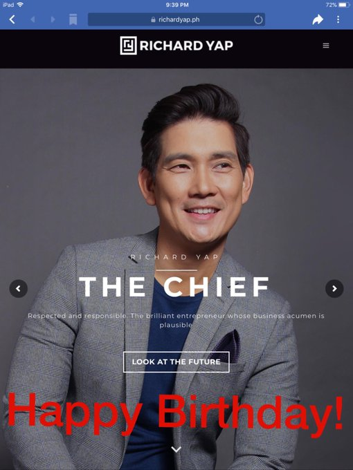 Happy Birthday Mr. Richard Yap!