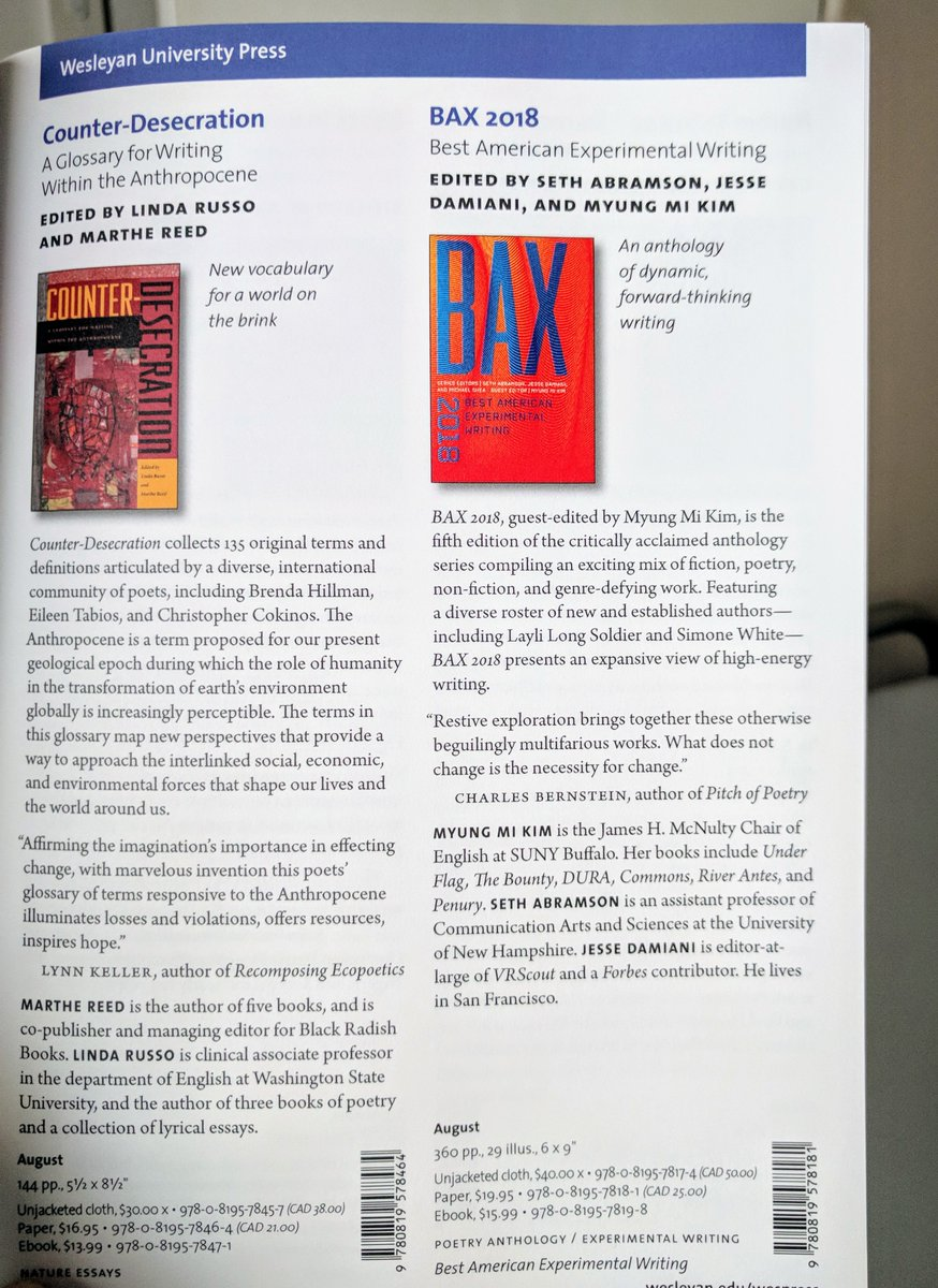 test Twitter Media - RT @BAX_Series: BAX 2018 spotted in the @weslpress Fall Catalog--headed your way this August! https://t.co/WQyPqwWqTB