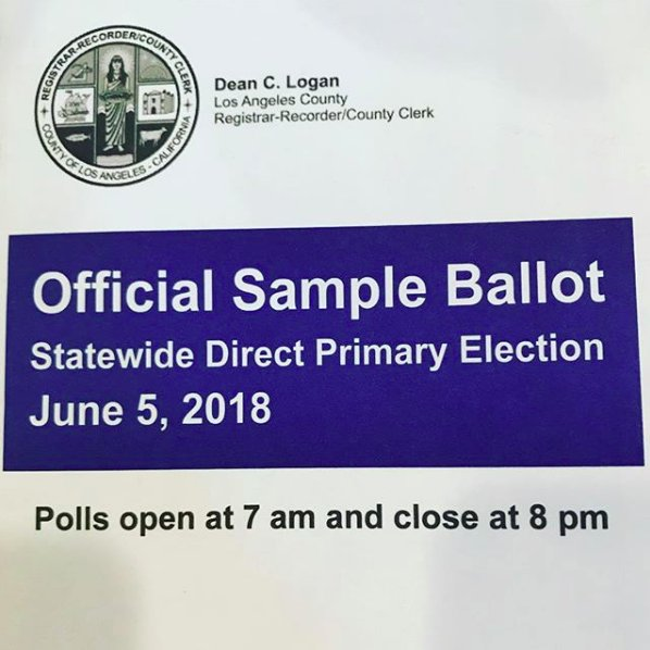 Voting tomorrow in California  https://t.co/HGeoJDJlN9 https://t.co/RIxZmyKcpI