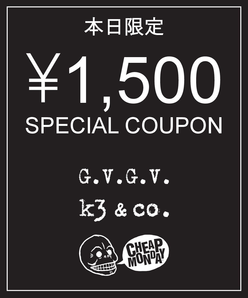 RT @k3_official_: 【¥1.500 SPECIAL COUPON】本日限定   23:59まで!https://t.co/4LSvJx7P8W https://t.co/1WdpNJewUw
