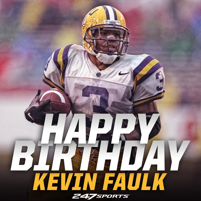 Happy birthday to one of the greatest to ever lace em up for the Tigers, Kevin Faulk!
