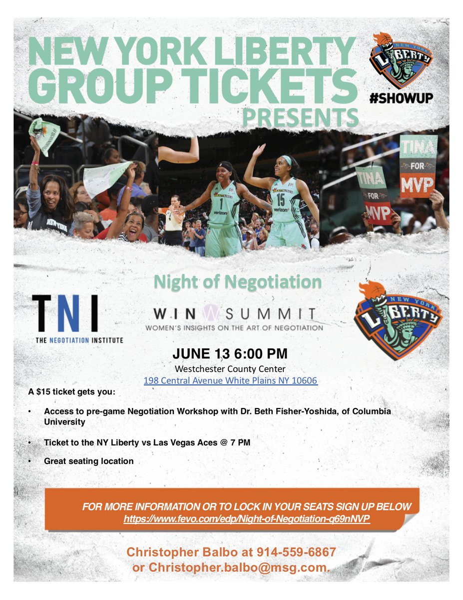 test Twitter Media - Ready for your next #Negotiation? Do you have a #strategy? June 13th, Join @NegotiationCOM and @CU_SPS_NECR for an incredible negotiation workshop and matchup between the @nyliberty & @LVAces! Workshop begins at 6 PM, Tipoff at 7! See you There #ShowUP   https://t.co/THVB2OQ31i https://t.co/tw4Uu2l8wq