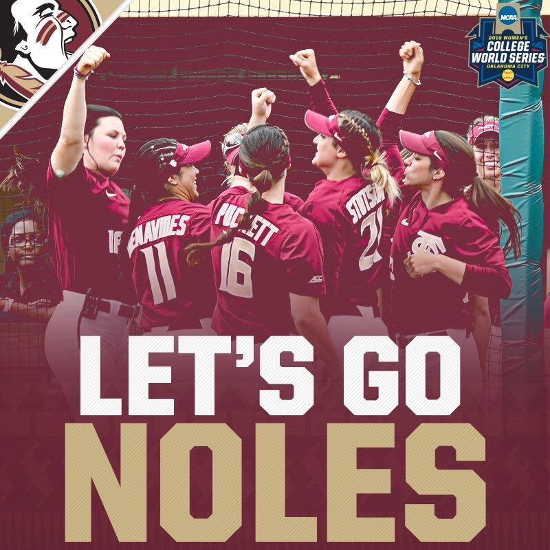 RT @FSUChiefs: Best of luck to our @FSU_Softball team tonight! We are ALL cheering for you! #FSUSoftball #Noles https://t.co/CbVskkcCXh
